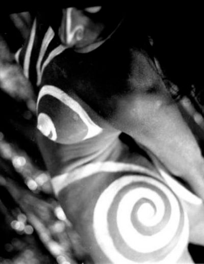 body painting balck and white